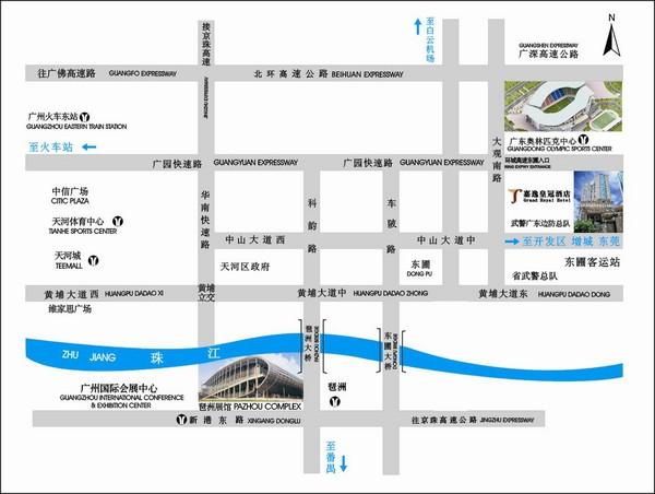 Guangzhou Hotels Map Fullsize Guangzhou Hotel Map