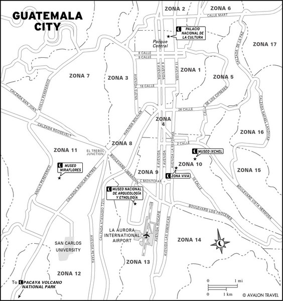 Guatemala City Tourist Map