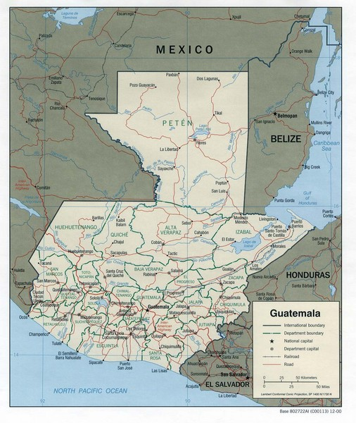 Guatemala Tourist Map