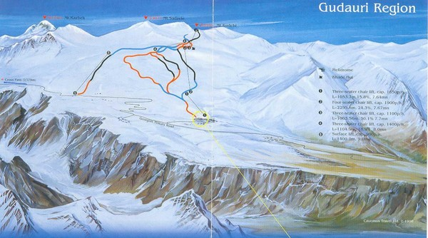 Gudauri Ski Trail Map