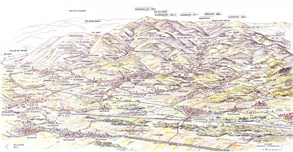 Guebviller valley panorama Map