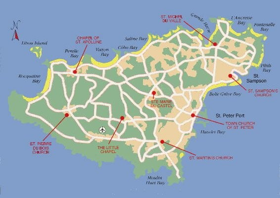 Guernsey Church Map • mappery