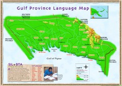 Gulf Province language Map
