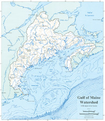 Gulf of Maine Watershed Map