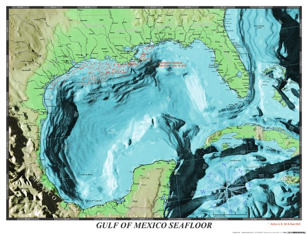 Gulf of Mexico sea floor Map