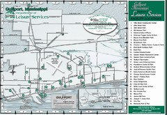 Gulfport Recreational Facilities Map