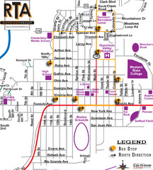 Gunnison RTA Bus Route Map