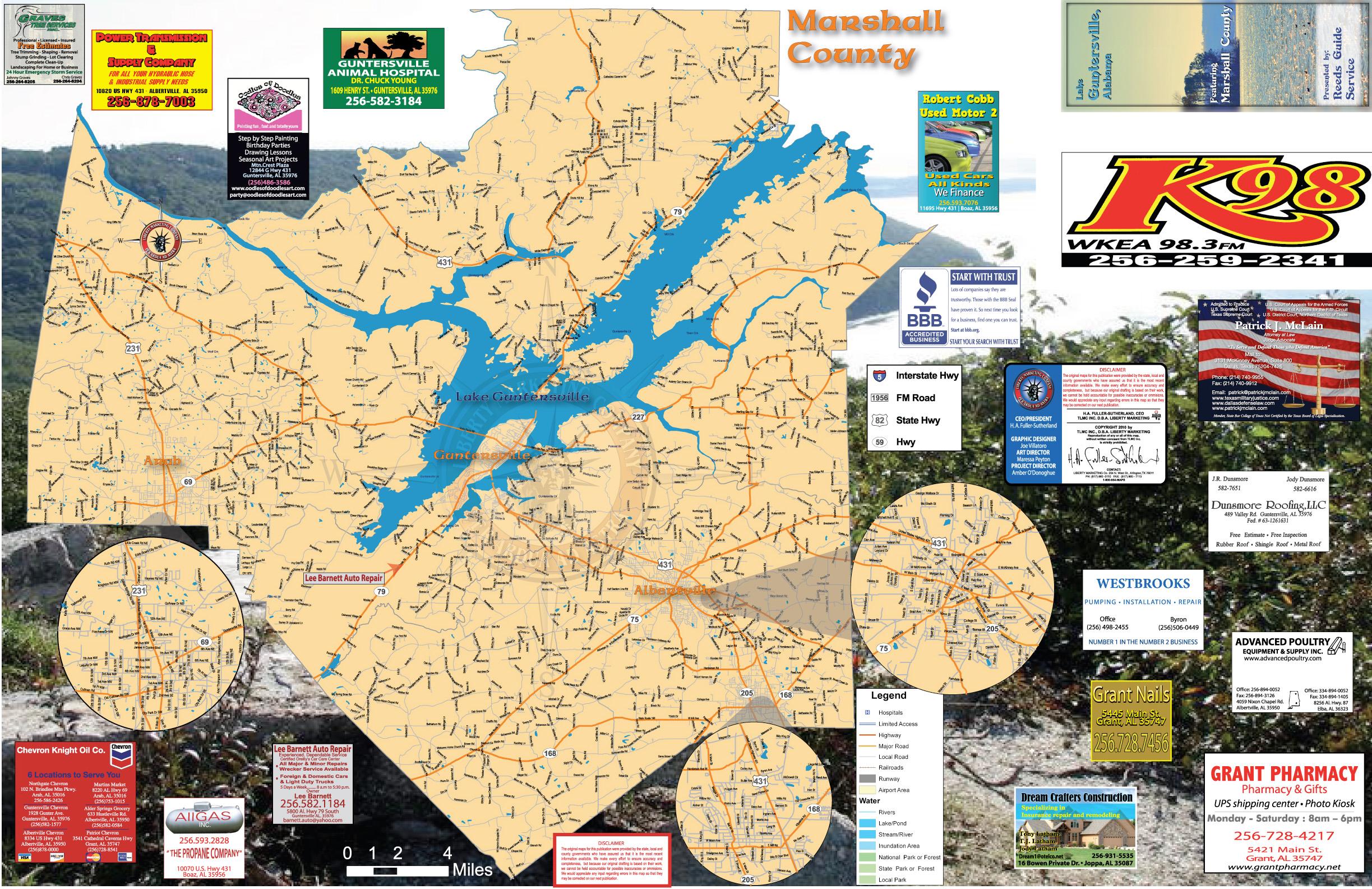 map of lake guntersville Guntersville Lake Map Largest Lake In Alabama Mappery map of lake guntersville