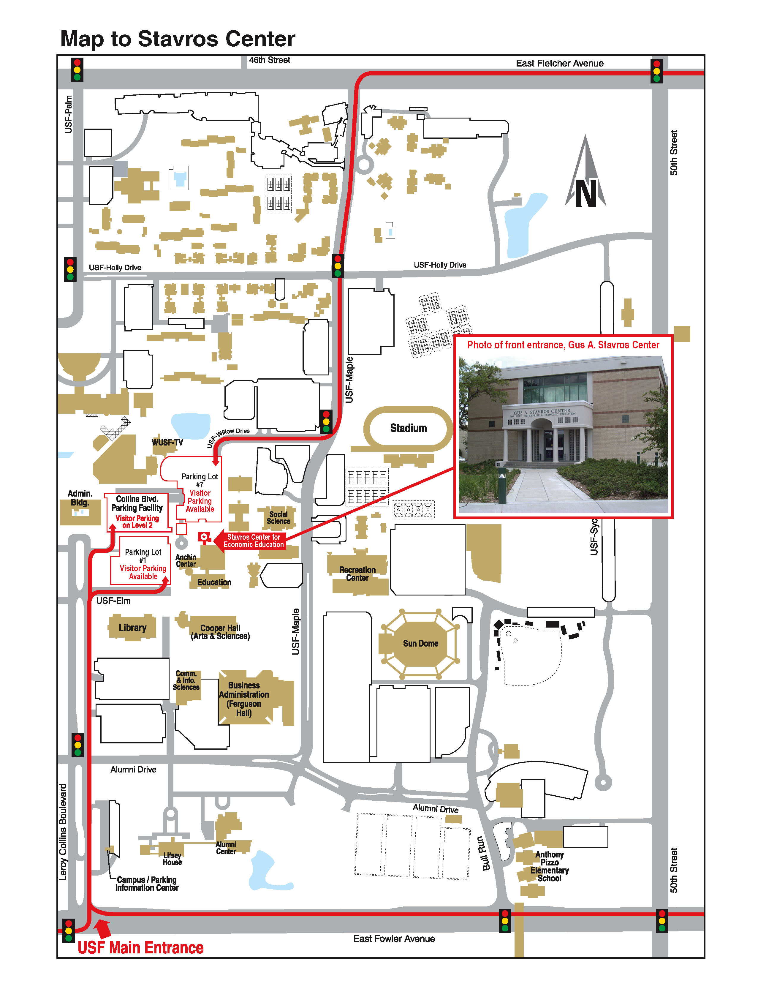 Gus A Stavros Center Map - 4202 E Fowler Avenue Tampa ... Usf Tamap Campus Map on
