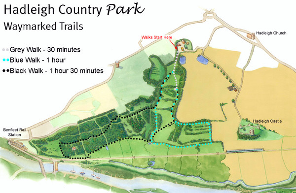 Hadleigh Country Park Map