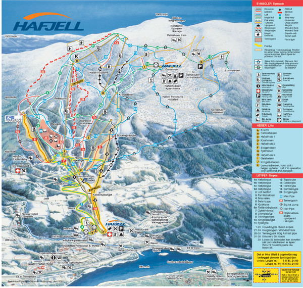 Hafjell Ski Trail Map