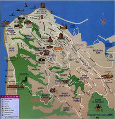 Haifa Tourist Map