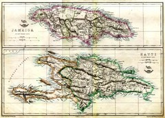 Haiti and Jamaica Map