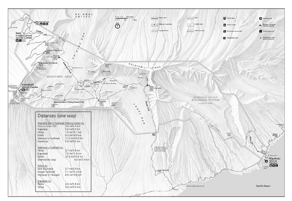 Haleakala National Park Official Park Map