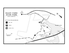 Haley Farm State Park map