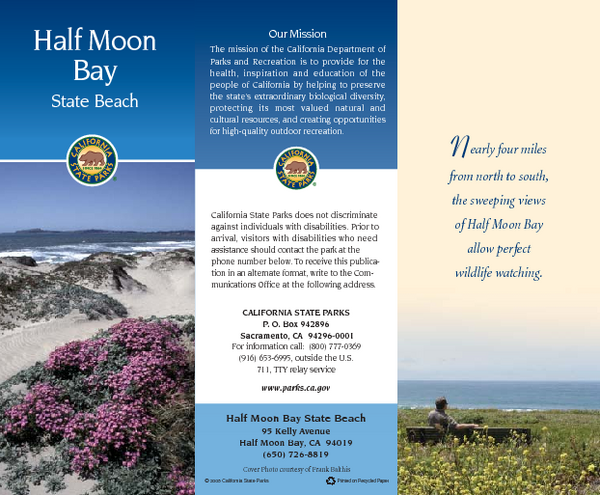 Half Moon Bay State Beach Map
