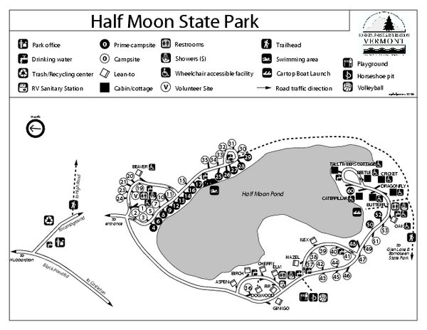 Half Moon State Park Campground Map