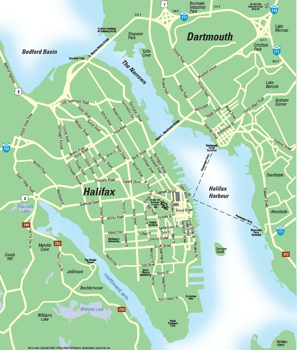 Halifax Area Map bedford basin mappery