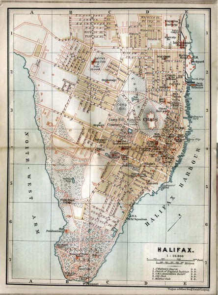 Halifax Nova Scotia Map 1894