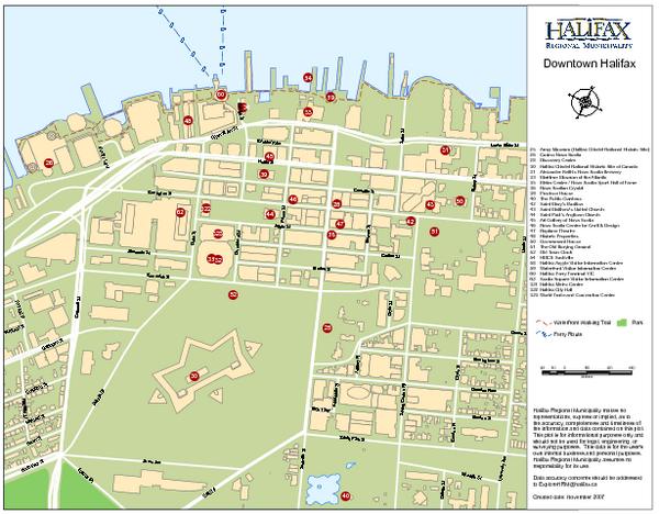 Halifax tourist map halifax nova scotia mappery fullsize halifax tourist map sciox Image collections
