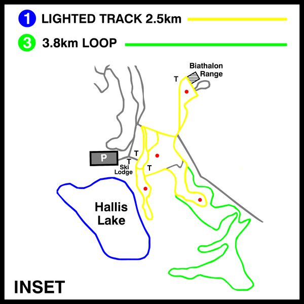 Hallis Lake Lighted Ski Trail Map
