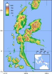 Halmahera Topography Map