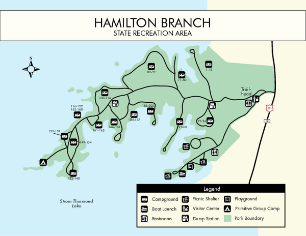 Hamilton Branch State Park Map Hamilton Branch State Park South