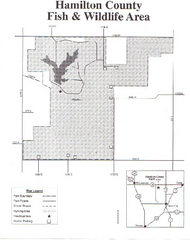 Hamilton County Wildlife Area, Illinois Site Map