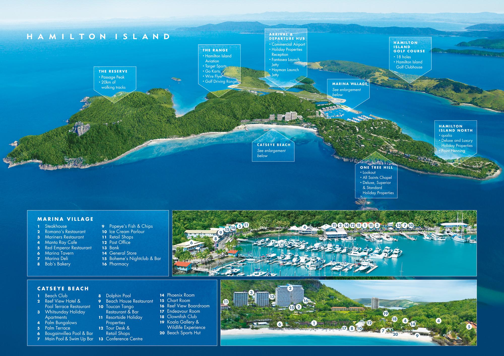 Great Barrier Reef Hamilton Island Map