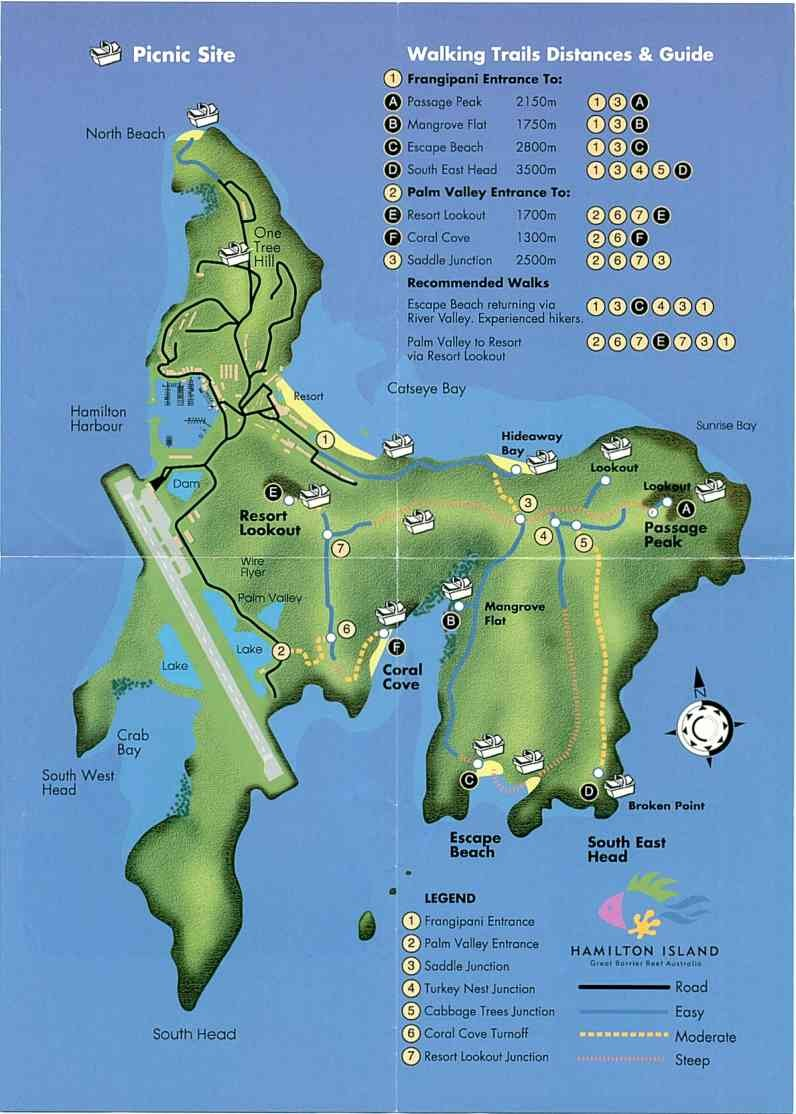 Hamilton Island Australia Map.Hamilton Island Tourist Map Hamilton Island Mappery