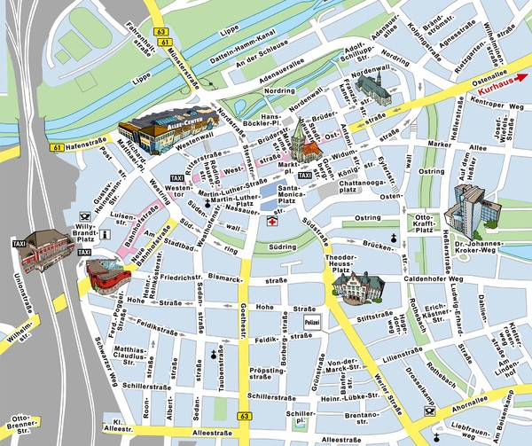 Hamm Center Tourist Map Hamm Germany mappery – Berlin City Map Tourist