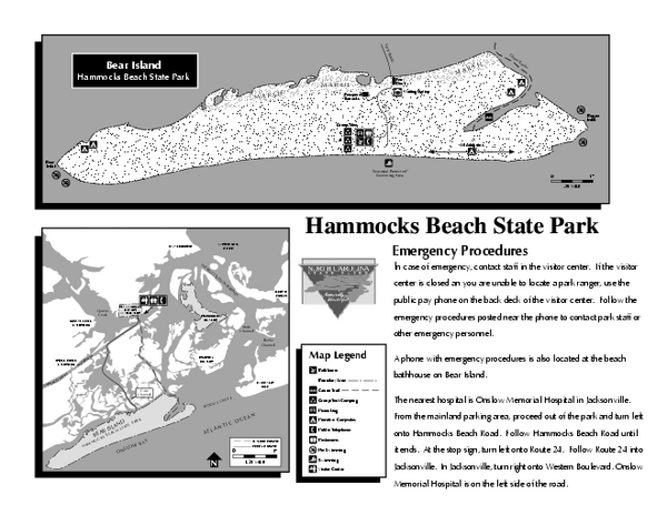 Hammocks Beach State Park Map