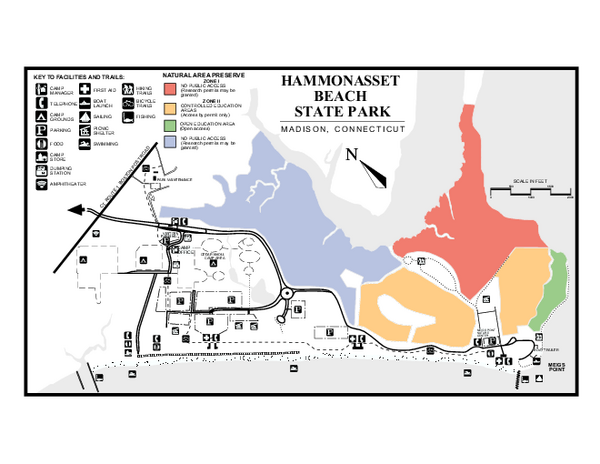 Hammonasset Beach State Park map - madison ct • mappery