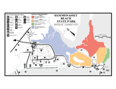 Hammonasset Beach State Park map