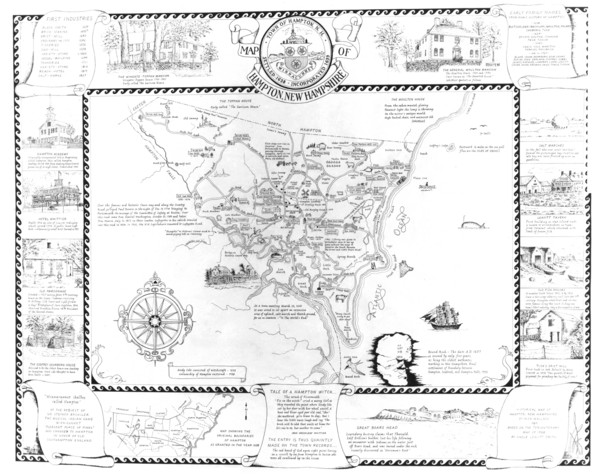 Hampton, New Hampshire Historical Map