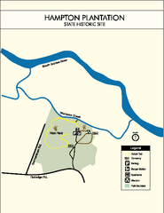 Hampton Plantation State Park Map