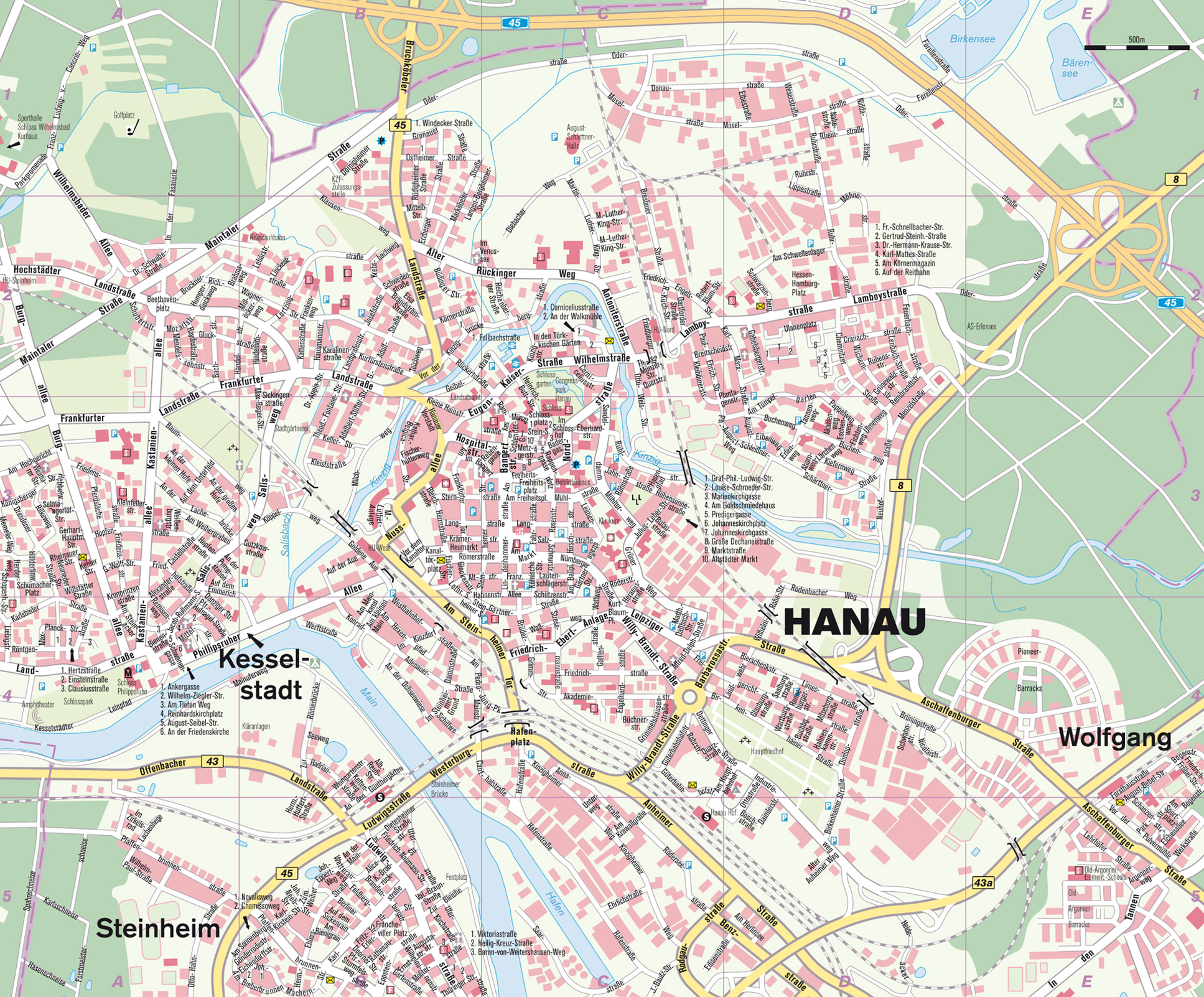 Hanau am Main Germany  city photo : Hanau Map Hanau Germany • mappery