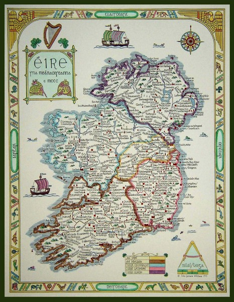 Hand-Drawn Ireland Map