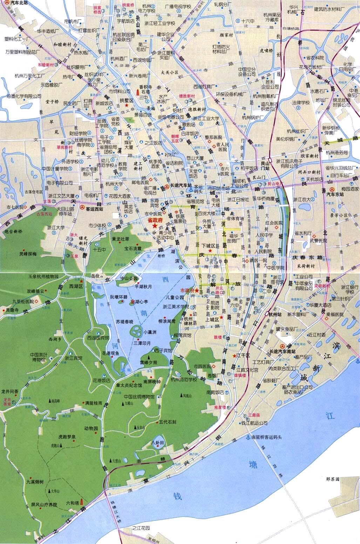 Hangzhou Map Hangzhou mappery