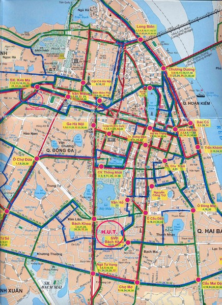 Hanoi City Bus Line Map - Hanoi • mappery