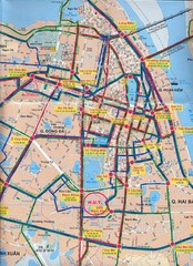 Hanoi City Bus Line Map