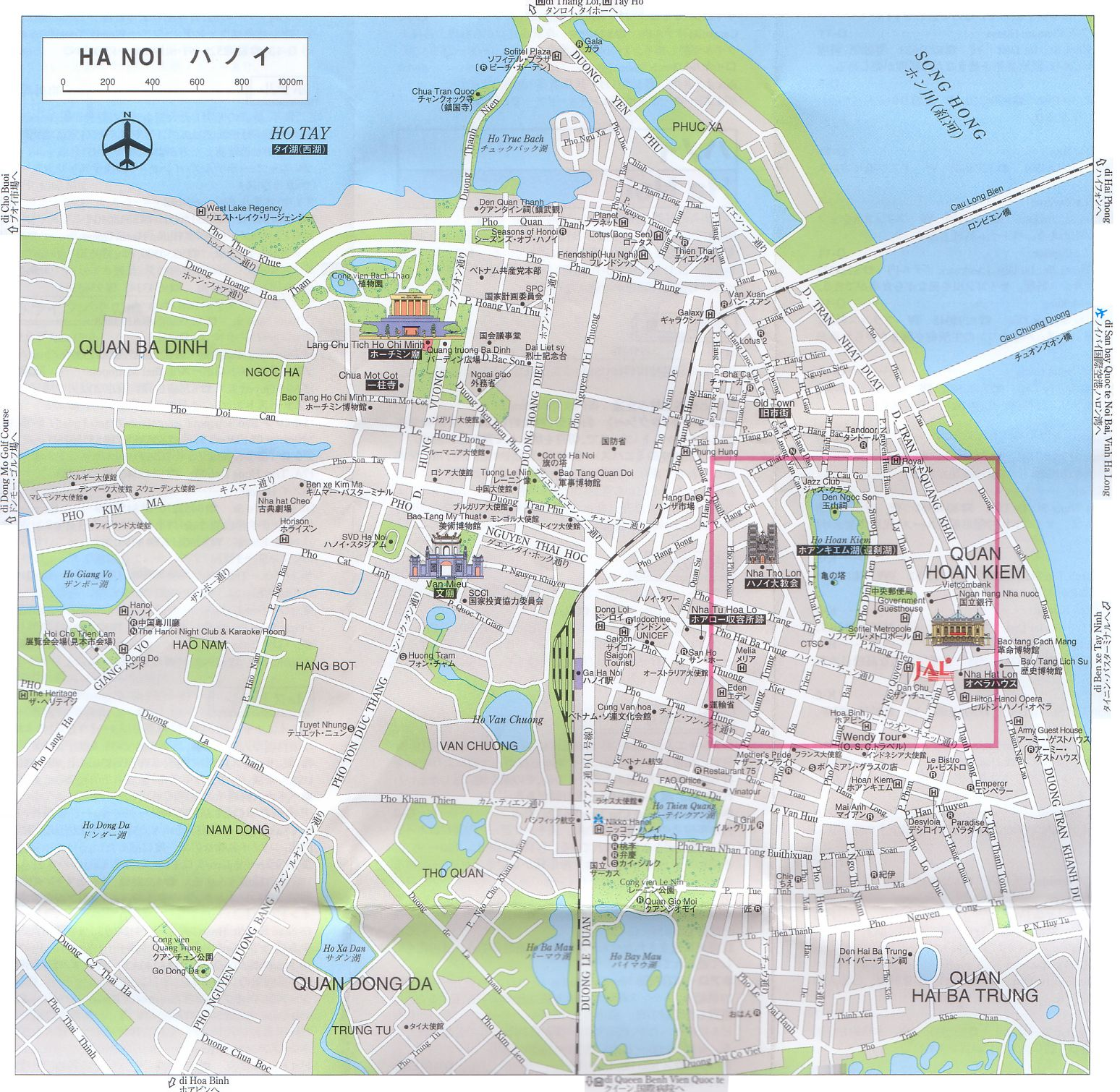 Hanoi Vietnam City Map