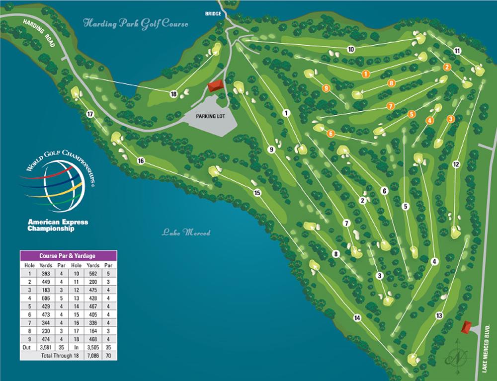 Harding Park Golf Course Map 99 Harding Road San