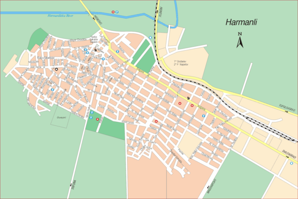 Harmanli Tourist Map