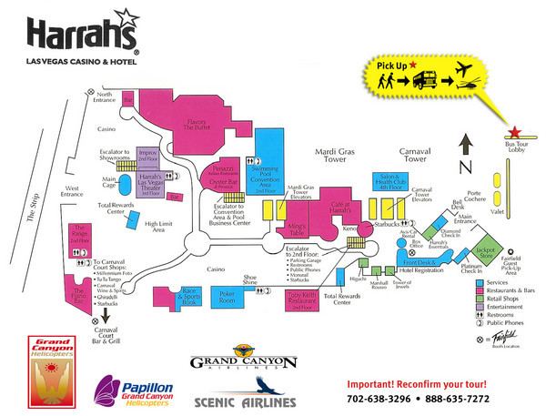 Harrahs Las Vegas Hotel Map