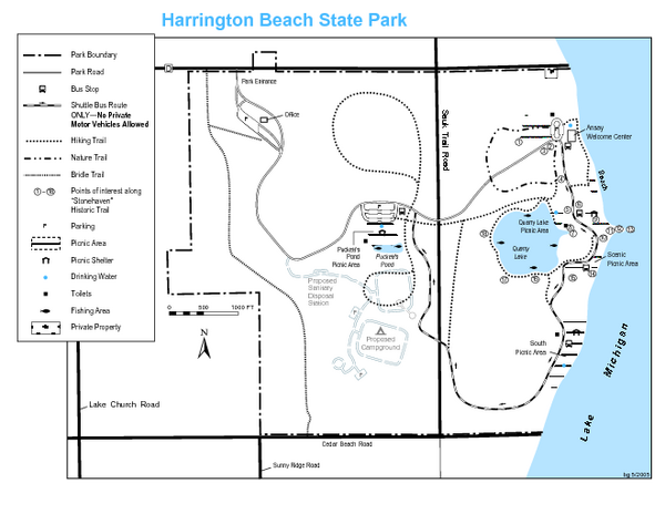 Harrington Beach State Park Map   Harrington Beach State Park WI