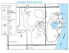 Harrington Beach State Park Map