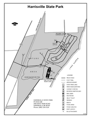 Harrisville State Park, Michigan Site Map