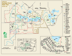Hartman Creek State Park map