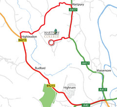 Hartpury College Directions Map